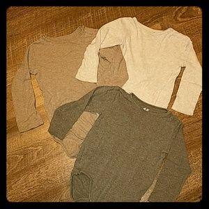 3 H&M Long Sleeve onsies